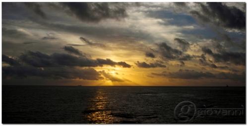 Sunset Panorama at Dona Paula